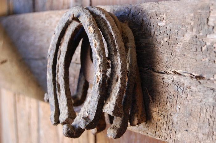 馬のひづめを保護する靴のようなU字型の「蹄鉄(ていてつ)」。フランスなどのヨーロッパにある家の玄関先に打ち付けられているのを目にすることもあります。蹄鉄は魔除けや幸福をもたらすものとされていて、愛が復活するともいわれています。