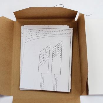 中には型紙が6種類。創作意欲がかきたてられますね。1種類でロングスリーブやノースリーブなどバリエーションを変えられるものもありますよ。