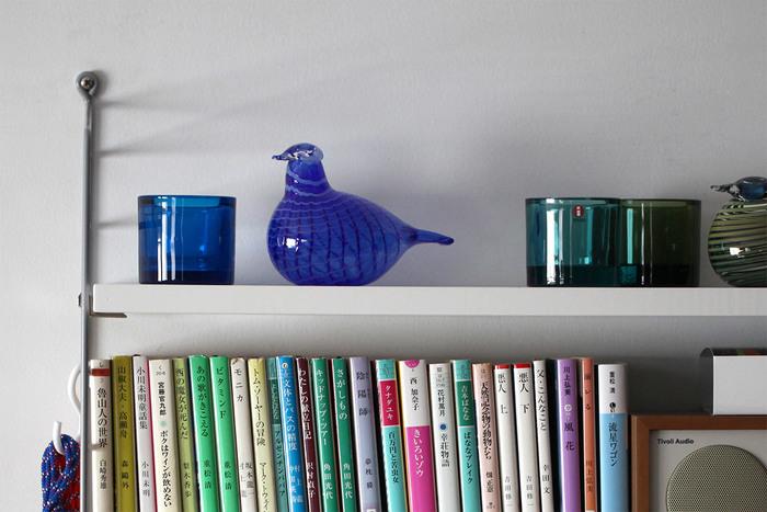 食器で有名なイッタラのガラスオブジェです。1点ずつ職人さんが丁寧につくっているため、1つずつ微妙に透け具合や形が異なっているのが素敵。お気に入りの青い鳥は見つかりましたか?