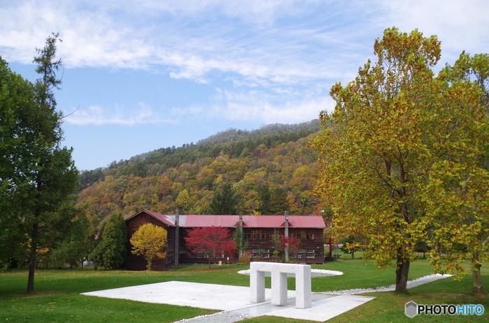 かつては炭鉱都市として栄えた北海道美唄市(びばいし)。ここで廃校になった小学校を利用して、美唄市出身の彫刻家安田侃が設立した美術館が「アルテピアッツァ美唄」です。現在は約40点の作品を展示しています。