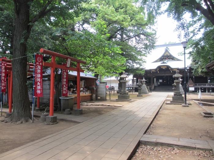 鬼子母神境内には、樹齢600年に及ぶ大イチョウがあり、子授けイチョウ、子育てイチョウとして親しまれ、秋には黄金色に輝く落葉が美しい絨毯のようです。樹齢400年を数える参道のケヤキ並木とともに、東京都の天然記念物に指定されています。