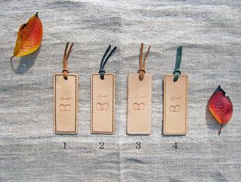 ▪️sasatte日和 手縫いのしおり クリーム×グリーン 本革  着色や仕上げ剤による加工を行わない「素上げ」の革で作られたこちらのしおり、革本来の質感が楽しめます。