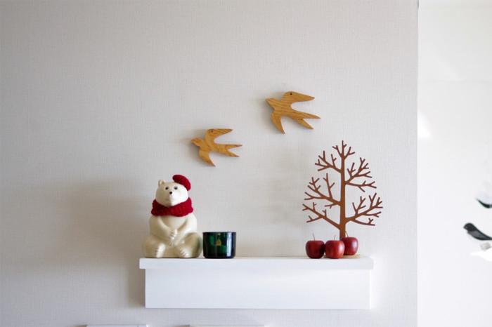 帽子をかぶせたり、マフラーを巻いたり、みなさん着せ替えを楽しんでいるんです。ハロウィンやクリスマスを白くまと一緒に楽しんでみては?
