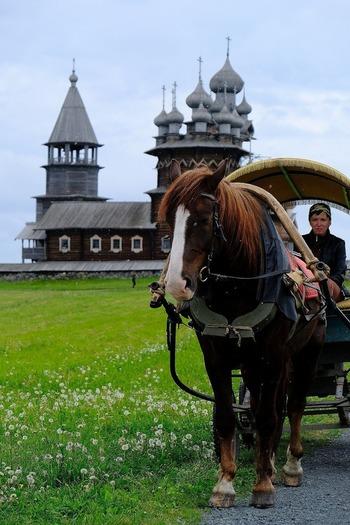 島内は馬車を使って移動できます。馬車のゆっくりとした速度で中世さながらの景色を楽しむのもいいですね。