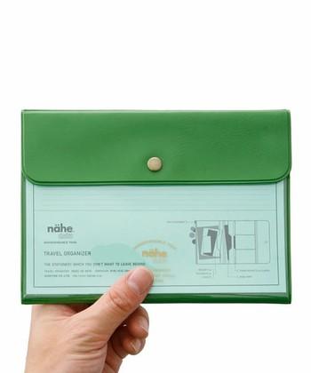 お気に入りのカードを持ち歩くなら、表(おもて)がクリアなケースに入れるのはいかがですか。こちらのパスポートケースならサイズもぴったり。