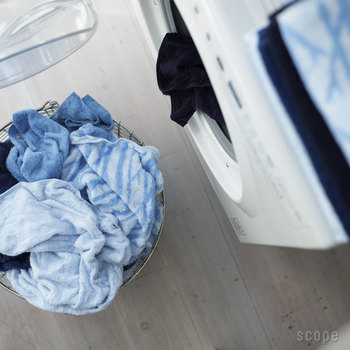 """ご存知の方も多いと思いますが、タオルの""""ふわふわ""""をキープする鍵は、お洗濯の仕方にあります。コツをつかめば、とても簡単。今までより、タオルの気持ち良さが長持ちしますよ!  洗い方のポイントをひとつひとつご紹介していきます♪"""