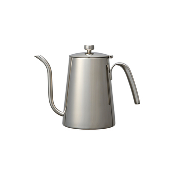 ドリップ用のケトルは基本ツールとお役立ちツールの中間くらいのポジションですが、コーヒーをよく飲む人ならぜひ持っておきたいアイテム!ポイントはケトルの注ぎ口が細いこと。湯量をコントロールしやすく、コーヒーの粉に優しく注ぐことができますよ。