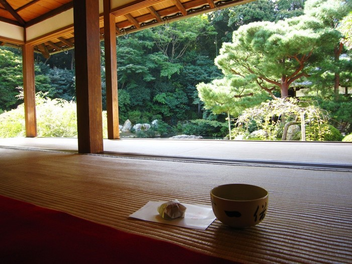 こちらの庭園は銀閣寺の庭も手がけたという将軍お抱えの絵師「相阿弥」が作ったもの。お抹茶とともに、心ゆくまで庭園の美しさを楽しみたいですね。
