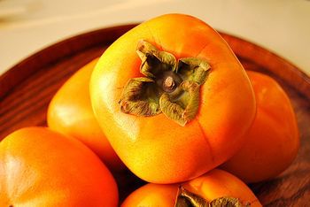おいしい柿を選ぶポイントは3つ。  1.へたが緑色のものを選ぶ 2.全体が濃いオレンジ色で、形がいびつではないもの 3.重量感があるもの  ぜひお店でチェックしてみてくださいね。