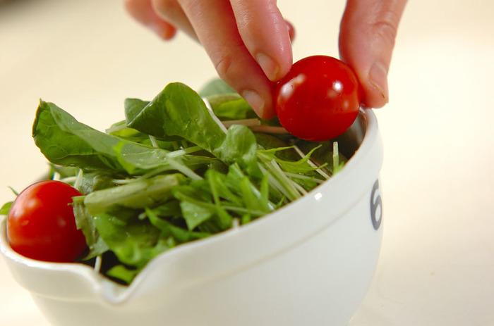 夏より秋のほうが断然育てやすいルッコラも寒さに強い野菜です。日当たりが良く、水はけの良い場所に植えましょう。プランターでも大丈夫ですよ。収穫する際は外の葉から必要な分量を採り、新芽を残すようにすると、また成長します。水はやりすぎ注意です。