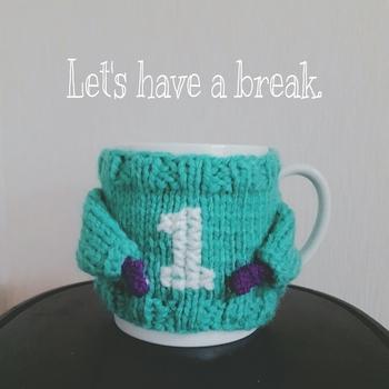 お気に入りのカップにつけて、ちょっぴりおめかししてあげましょう♪