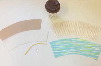 用意するものは下記のとおりです。 【材料】 ・表用の布(お好みのファブリック) ・裏地用の布 ・キルト芯(接着芯でも可) ・ゴム ・ボタン