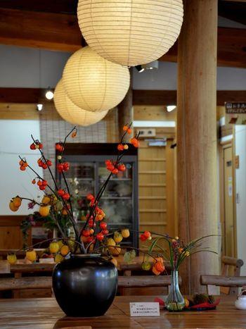 店内は落ち着きがありつつも、和モダンな雰囲気。丸い和紙の照明が印象的です。