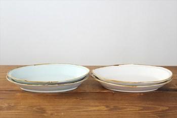 圧迫感のないミルキートンが食卓をふんわり彩ってくれる、オーバル型の深皿。一人用のカレーでも、シェアする煮物料理でも幅広い料理と合わせられるアイテムです。