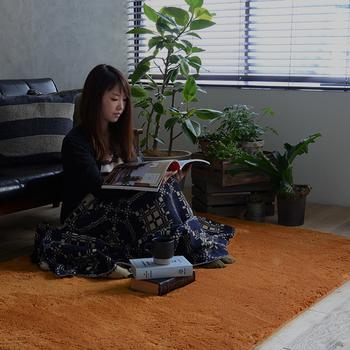 畳をある程度見せておきたい方は、大きめのラグを使うのも有効ですよ♪