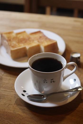 【「喫茶 六花」のモーニングセット】