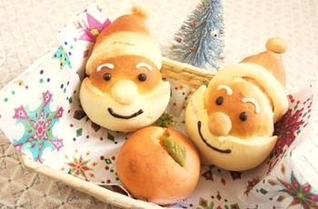 サンタさんもかわいいですね♪こちらはメロンパンレシピ。