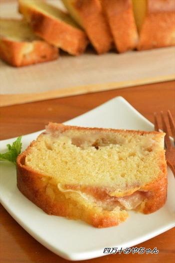 こちらはしっとりとした食感が美味しい「イチジクのパウンドケーキ」♪何度も作りたくなってしまう絶品レシピです!