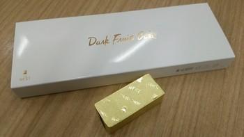 一つずつ個別包装されたゴールドの塊は、ちょっぴりリッチな気分にさせてくれます。8個入りと16個入りの箱入りがあります。