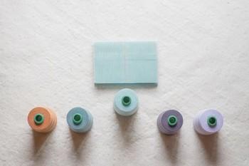 ▪️TATAMIEN 畳縁の文庫本カバー 水色  コットン100%の畳縁(畳のふちに用いられる布のこと)を使い、読書の際に「薄くてかさばらない」を目指して作られたブックカバー。