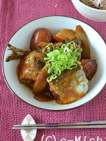 秋の旬のさんま・さつまいも・ごぼうを一緒にいただける煮込みは、コチュジャンが味の決め手!コチュジャンのピリリとした辛さがさんまと絶妙にマッチしています。圧力鍋でじっくり煮込めば、骨まで柔らかくなるので魚が苦手な人でも食べやすいですよ♪