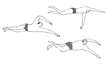 「何のために、ひたすらに」  プール?海へ?川へ?飛び込む3人。一心不乱にひたすらに泳ぐ姿。自分のためでもあり誰かのためでもあるのか。どんなことだとしても、ひたすらに進もうとする姿は心を動かされます。