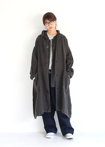 各アイテムごとはとてもシンプルですが、絶妙な着丈や素材でこんなにおしゃれな着こなしになります。秋から冬のコーディネートで、ぜひ参考にしたいスタイルです。