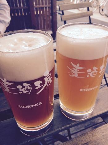醸造所併設ならではの「できたてがおいしいビール」にこだわっているとか。ビールが苦手な人でも飲みやすいそうです。