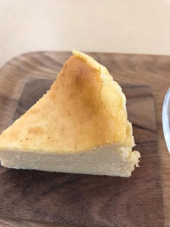 一見素朴なチーズケーキですが、こちらは「バオバブ」の実が練りこまれたバオバブチーズケーキ。アフリカの巨木であるバオバブは、ビタミン、鉄分、カルシウムが豊富で食物繊維もたっぷりなのだとか。