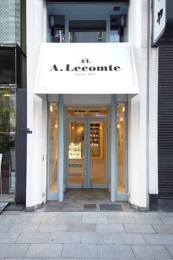 『ルコント』は、1968年12月、六本木にフランス人であるシェフ、アンドレ・ルコントさんによって作られました。日本初のフランス菓子専門店なんです。