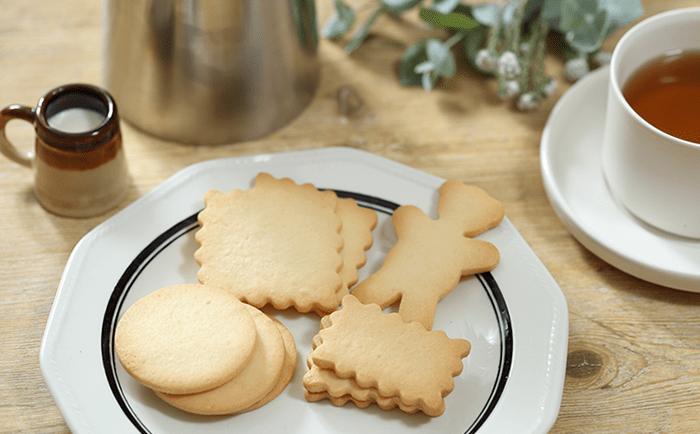 焼き菓子の定番で、おすそわけにもぴったりなのがクッキーです。お気に入りのクッキー型を使ってかわいらしく焼き上げてみて。焼きあがったときのバターの香りにとっても幸せな気持ちになれますよ。