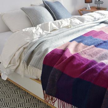 ベッドに置いておけば、朝起きた時の寒さもカバーできます。