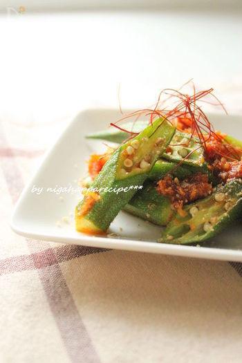 生野菜に付けてもおいしいコチュジャンは、お野菜との相性がとっても良い調味料。さっと炒めるだけで、ご飯にもお酒にもあう一皿が出来上がります。