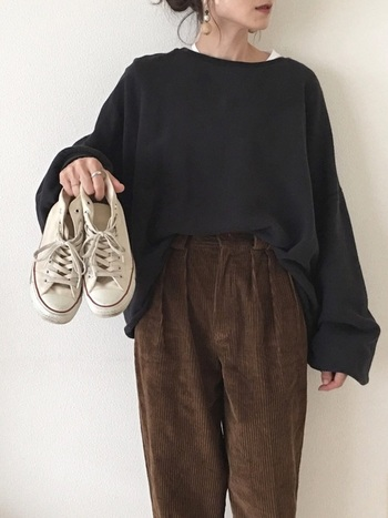 あたたかみがあって柔らかい着心地のコーデュロイは、秋冬ならではの素材。ぜひ寒い季節にコーデュロイのアイテムを着こなしてみてくださいね。