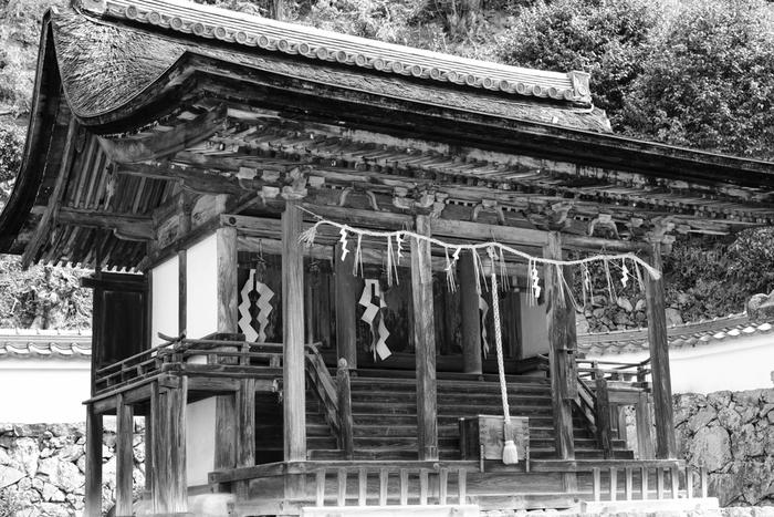 「花の寺」として知られている三室戸寺に隣接する十八神社は、室町時代に創建された神社です。規模こそは小さいものの、重要文化財に指定されている社殿は荘厳で静謐な佇まいをしています。どこか落ち着いた雰囲気を漂わせる十八神社は、人ごみが苦手な人がお参りするのにぴったりな神社です。