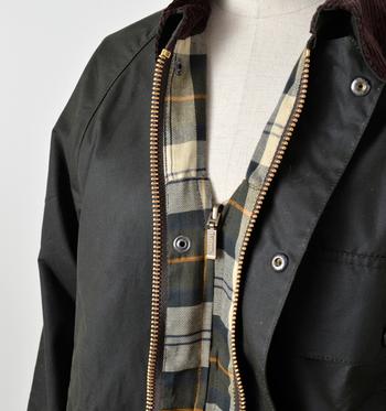 閉じられた袖口、襟元のデザインなどの他に、二重のファスナーで高い防寒性を実現してくれます。