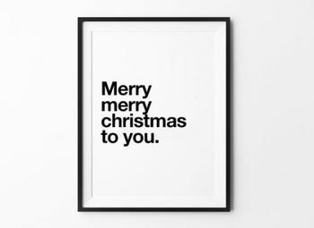 活字好きの人にはたまらないヴィンテージタイポグラフィも、クリスマスのアートに。
