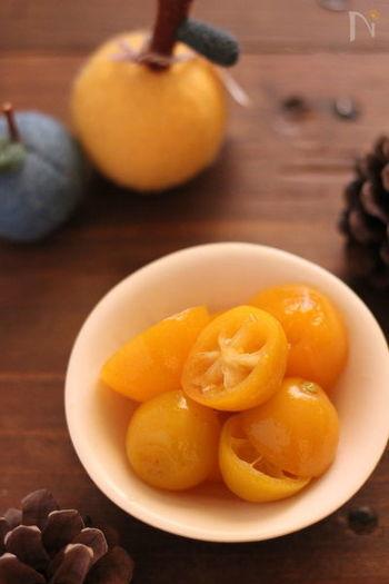 サッと下茹でした金柑をはちみつに漬け込んだ手軽なレシピ。のどが痛い時に、風邪のひきはじめにいただきたい一品です。