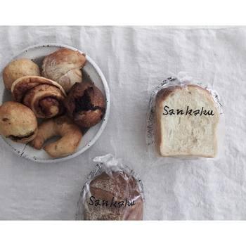 わざわざ買いに行く価値のある自然に恵まれた自然酵母を使った力強い食パンです。パッケージもかわいい♪