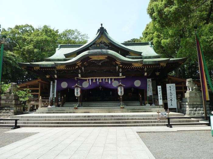 東京都のほぼ中央に位置し、「東京のへそ」とも呼ばれている大宮八幡宮は、東京都内で3番目の大きさを誇り、境内面積や約15000坪におよびます。縁結び、厄除け、子育て、安産などのご利益がある神社として、広く親しまれています。