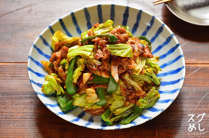 ■ 豚肉とキャベツの味噌炒め(回鍋肉) 中華の人気メニュー回鍋肉(ホイコーロー)は、意外と簡単に15分で出来てしまいます。野菜もたっぷり食べられてヘルシーです。甘辛いお味でご飯やお酒がすすみ、我が家の定番になりそう♪