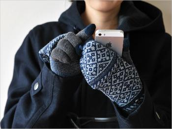 外を長時間歩くときはどんどん手が冷たくなってしまいます。道を調べたいのに指がかじかんでスマホが使えない!なんてことにならないよう、ひとつ持っておくといいかもしれません。最近は装着したままスマホを使える手袋もあるので、着脱の煩わしさも解消されますね。
