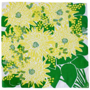 ひまわりやミモザなど、黄色の花々を集めたデザインは、気持ちを前向きに、ハッピーにしてくれます。