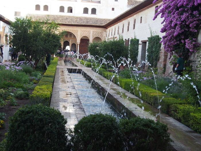 こちらのパティオは噴水が軽やかに舞っています。各パティオで雰囲気も違うので、自分のお気に入りスポットを見つけたらふらっと一服、休憩しながらじっくりとお庭を楽しむのもいいですね。