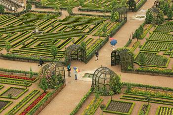 お城も見ごたえたっぷりですがここの見るべきポイントは庭!幾何学模様の迷路のようなお庭には圧巻されてしまいます。