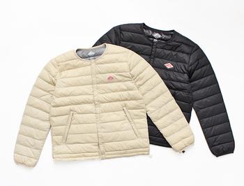 薄軽でコンパクトなシルエットのインナーダウンジャケットも、ダントンの人気アイテムのひとつです。