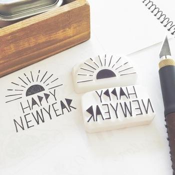最近流行りの文字づかいを取り入れたスタンプ。シンプルなデザインなので使いやすそう。
