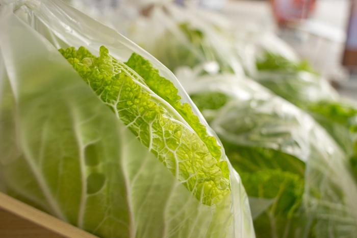 1/2や1/4カットで購入することも多い野菜ですが、カットした状態では日持ちがしません。切り口が空気に触れないようにラップで包んで、出来るだけ早く使い切るようにしましょう。