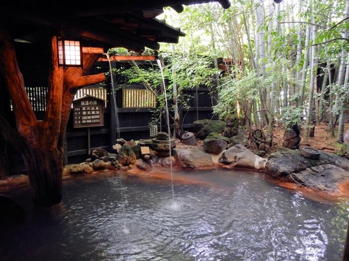 黒川温泉は各宿に源泉があり、その泉質は宿ごとに少しずつ異なって、なんと7種の泉質があるのだとか。例えば、黒川温泉の中でも人気の「いこい旅館」には、お肌に心地いい「美人の湯」があります♪