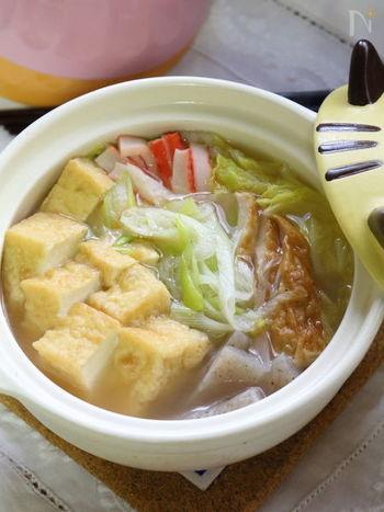 スープが厚揚げにしみていてとってもおいしそうですね。汁物の代わりにもなりそうなレシピです。